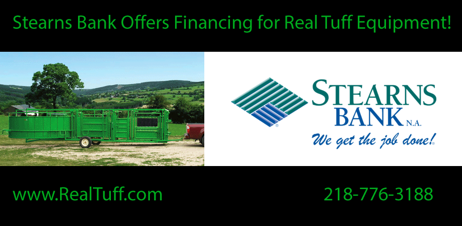 Stearns Bank Offers Financing For Real Tuff Equipment